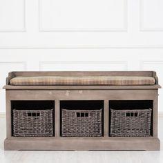 Jérôme скамейка в прихожую с корзинами для хранения - Прихожая - Прочая мебель - Мебель по комнатам
