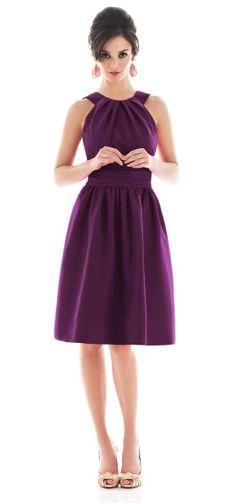 purple AND modest bridesmaid dress.