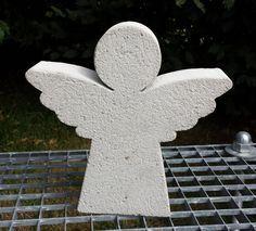 Gartendekoration - Beton Giessform  ENGEL 33 cm - ein Designerstück von BIF-Hermes bei DaWanda