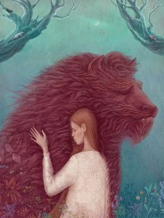 "pioggia-secca: Illustrations for ""Beauty and the Beast"" by Galya Zinko"