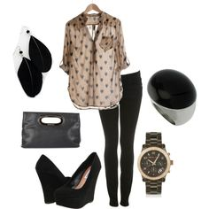 Cute every day wear, shoes Idk but the blouse is super cute