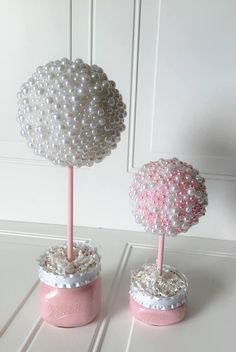 Best 11 Large Elegant Pearl Centerpiece – 14 tall – Set in a coordinating baby pink or cream painted mason jar These sweet pearl centerpieces Topiary Centerpieces, Pearl Centerpiece, Birthday Centerpieces, Shower Centerpieces, Wedding Centerpieces, Baby Shower Table Decorations, Decoration Table, Cream Paint, Flower Ball