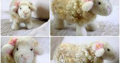 Sunny Sweet Life: Felting Series, Part Needle-Felted Sheep! Needle Felted Animals, Felt Animals, Sheep Crafts, Felt Sheets, Needle Felting Tutorials, Baby Center, Wet Felting, Felt Art, Sweet Life