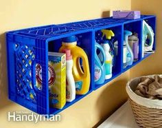 Cute little idea for your laundry room storage!