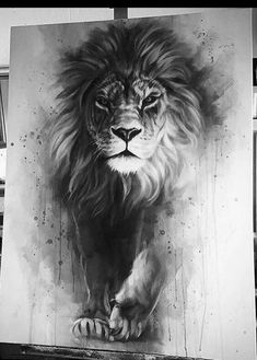 Gorgeous Lion painting with awesome depth and color. Lion of Judah painting. Lion Painting, Painting & Drawing, Lion Drawing, Animal Drawings, Cool Drawings, Amazing Drawings, Amazing Tattoos, Pretty Tattoos, Lion Art