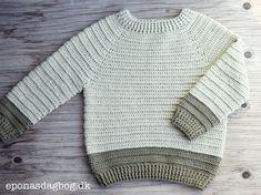 Sofus trøjen Crochet Baby Clothes, Newborn Crochet, Crochet Poncho, Diy Crochet, Baby Knitting Patterns, Baby Patterns, Crochet For Boys, Sewing For Kids, Men Sweater