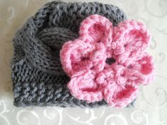 Knit Baby Hat Baby Girl Hat Knit Baby Girl Hats Baby by effybags, $19.50