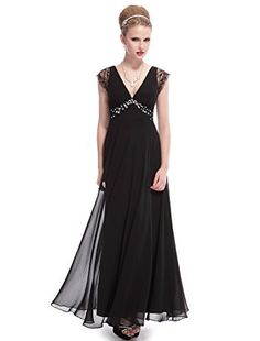 9c2907c8ac2 Ever Pretty Cap Lacey Sleeve V-Neck Rhinestones Evening Dress 08068.  katrice long