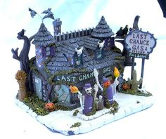 Hawthorne Village Last Chance Gas Munsters Halloween   eBay