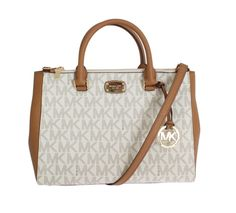Brown Kellen Leather Satchel Handbag 35S7GSOS2B ee07efe43aa82