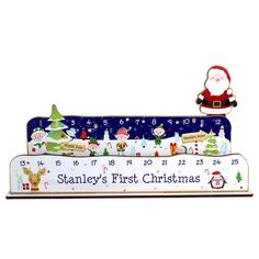 Personalised Make Your Own Advent Countdown Kit - Santa Santa Countdown, Do It Yourself Decoration, Days To Christmas, Make Your Own, How To Make, Decor Crafts, Toy Chest, Unique Gifts, Advent Calendars