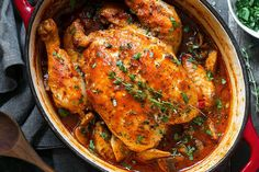 Chicken Cacciatore Recipe — An easy, nourishing and delicious recipe with fantastic Italian flavors. One dutch oven is all you need to make this chicken cacciatore as all ingredients simmer togethe…