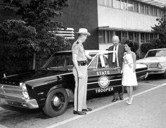 Florida state trooper   ... Memory - Miss Florida 1965, Carol Blum, with a Florida state trooper