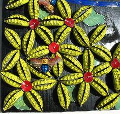 Flower Detail | Yep they are bottle caps | Loran Scruggs | Flickr