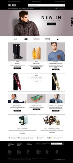 TheHut - Clothing DVDs Blu-ray and Games - Free Delivery - Best website, web design inspiration showcase