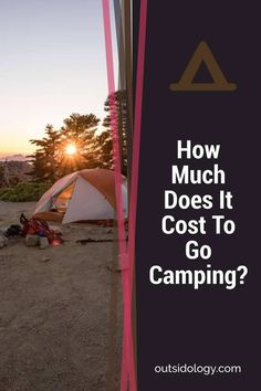 How Much Does It Cost To Go Camping #camping #camp #hiking #outdoors #backpacking #outdoor #tent #bushcraft Backpacking Tent, Kayak Camping, Camping Stove, Camping And Hiking, Campsite, Outdoor Fun, Outdoor Gear, 4 Season Tent, Camping For Beginners