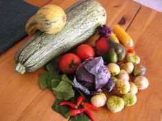 Lots of goodies fresh from the garden to create some interesting salsas...