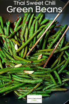Thai Side Dishes, Healthy Side Dishes, Vegetable Sides, Vegetable Side Dishes, Green Bean Salads, Green Bean Recipes, Vegetarian Recipes Green Beans, Quick Green Bean Recipe, Green Veggies
