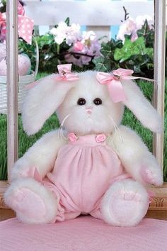 Bearington's Bunny Rose<br>Makes a Perfect 1st Easter Bunny for Babies!<BR>Now in Stock