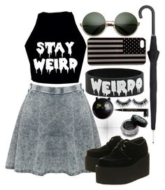 """""""Stay Weird"""" by mathilda96 ❤ liked on Polyvore"""