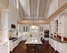 Traditional Kitchen White Kitchen Cabinetry + Walnut Flooring Design, Pictures, Remodel, Decor and Ideas - page 6