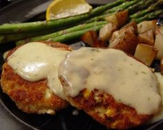 Kab Cakes with Hollandaise Sauce (made with bluegill fillets)