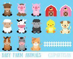 Farm Baby Animals Clipart Cute Animal Clipart Barnyard Animals Cute Animal Clipart Baby Farm Animals Animal Clipart