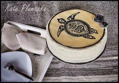 Kate Plumcake - Sugar Art & more                      : Cake painting su cioccolato plastico: TATTOO CAKE
