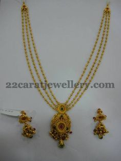 Gold Haram with Lakshmi Locket