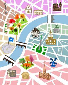 City Map #citymap #city #map #art #doodle #gallery #drawing #illustration #digitalart #instagram #artstagram #sketchbook #artwork #procreate #rivercity