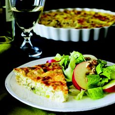 Crustless Leek and Gruy�re Quiche