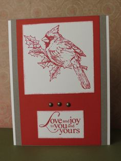 Christmas Card made at CTMH Christmas Workshop