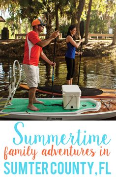 Enjoy summertime fun and family outdoor adventure in the heart of the Sunshine State: Sumter County, Florida. From kayaking, to fishing, and airboating, we have it all.  #discoversumter #sumtercounty #kayaking #hike #trail #cycling #fishing #outdoors #adveture #paddleboard #boating #boat #discgolf #frisbeegolf #canoe