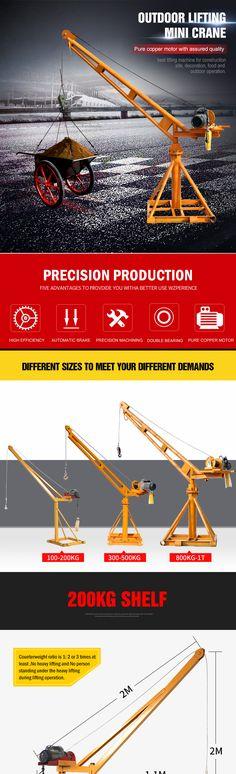 Lifted Trucks, Pickup Trucks, Mini Lifting, Construction Lift, Lifting Devices, Crane Mobile, Crane Lift, Hobby Cnc, Lift Design