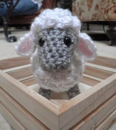 """Crafty Cute Creations' Crochet Sheep - Special Stitches:  4-Double Crochet Cluster: [Yarn over, insert hook in indicated stitch and draw up a loop, yarn over and draw through 2 loops on hook] 4 times; yarn over and draw through all 5 loops on hook This stitch causes the """"bobbles"""" that make the sheep look fluffy."""