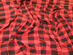 Check Plaid Print Stretch Viscose Jersey Knit Dress Fabric  Black & Red   Fabric   Dress Fabrics   Minerva Crafts Red Fabric, Cotton Fabric, Minerva Crafts, Jersey Knit Dress, Gingham, Printing On Fabric, Chiffon, Plaid, Summer Dresses