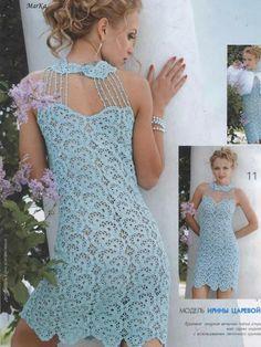 Wedding elegant crochet women dress. $380.00, via Etsy.