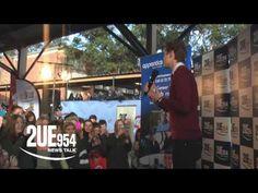 Harrison Craig performs for Greystanes High School