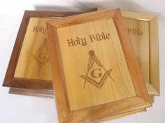 Masonic Bible Boxes Masonic Bible, Masonic Gifts, Masons, Freemason, Dress Code, Making Out, Solid Wood, Boxes, Coding