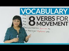 Improve your Vocabulary: 8 verbs to talk about movement - YouTube