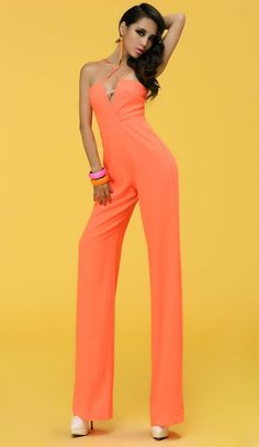 Morpheus Boutique - Green Lime Green Strap Halter Sexy Jumpsuit ...