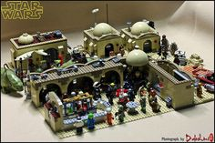 Mos Eisley of Star Wars Episode 4 Star Wars Episode 4, Lego Clones, Lego Pictures, Lego People, Lego Mechs, Lego Military, Cool Lego Creations, Lego Worlds, Lego Projects