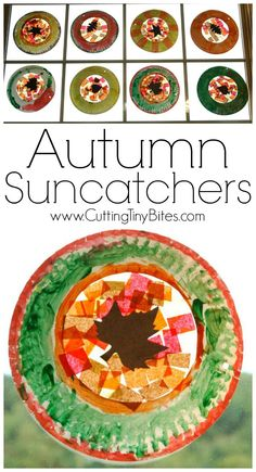 Beautiful suncatcher leaf craft for fall.  Perfect for preschoolers or elementary children.