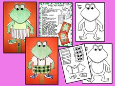 """Froooogy! Wh-aaat?  Cute Froggy """"flip"""" puppet to use with Froggy Goes to School!"""