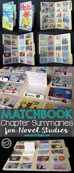 Chapter Summaries for Novel Studies Got to Teach!: Matchbook Chapter Summaries for Novel StudiesGot to Teach!: Matchbook Chapter Summaries for Novel Studies Reading Projects, Reading Lessons, Book Projects, Reading Strategies, Teaching Reading, Reading Comprehension, Reading Activities, Fun Projects, History Projects