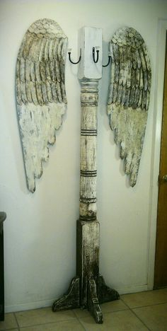 My favorite project in a while. The angel wings came from Angels with Attitudes in Glen Rose, TX. They were lighter so I darkened it all up.