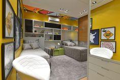 quarto de menino / skate / bedroom / boy / twins / apartamento decorado / home decor / bohrer arquitetura / interior design / decoração / showroom / casa / architecture