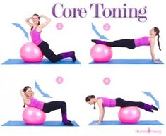 Four of my favorite strength and core toning exercises.    This set is great to add after a quick warm-up run or even after 20 minutes on the elliptical if you feel super determined that day. They can be done a home or in the gym and the only gear you need is an exercise ball.     Pair them up with some great tunes and you have the perfect workout day!