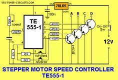 STEPPER MOTOR CONTROLLER TE555-1 Circuit