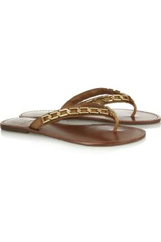 1e65d0c17aee Tory Burch Clea embellished leather sandals Designer Clothes Sale